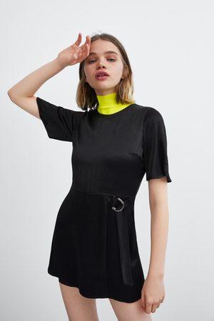 Zara Satin finish playsuit dress
