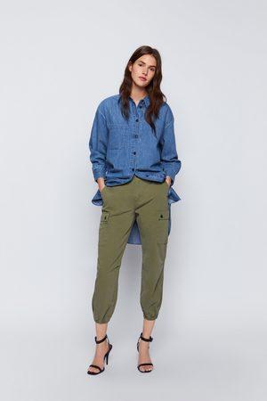Zara Zw premium cargo trousers
