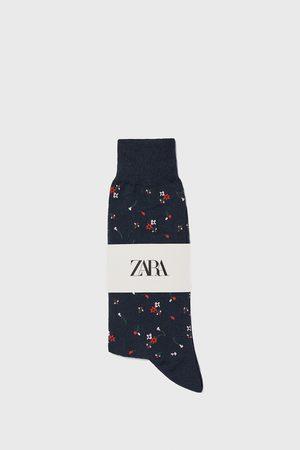 Zara Floral jacquard mercerised cotton socks