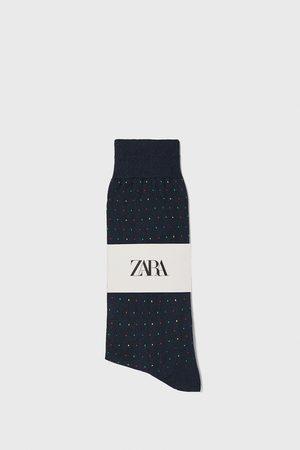 Zara Jacquard mercerised cotton socks