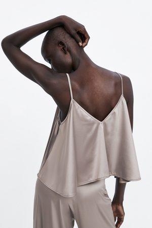 Zara Satin camisole top