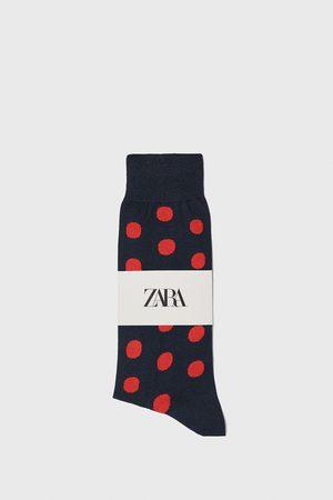 Zara Polka dot jacquard mercerised cotton socks