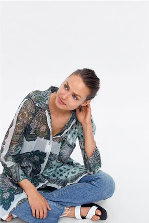 Zara Long printed shirt