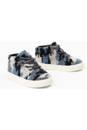 Zara FAUX SHEARLING HIGH TOP SNEAKERS