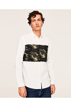Zara CAMOUFLAGE OXFORD SHIRT