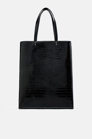 Zara Animal print flat tote bag