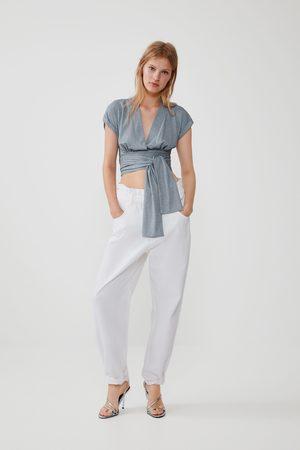 Zara Metallic thread t-shirt