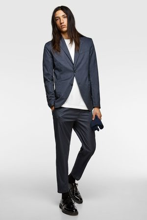 Zara Textured technical suit trousers