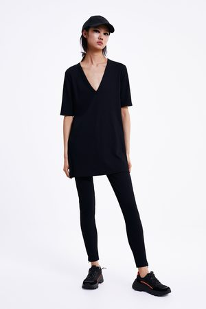 Zara Textured stretch trousers