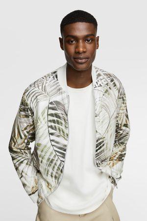 Zara Leaf print bomber jacket