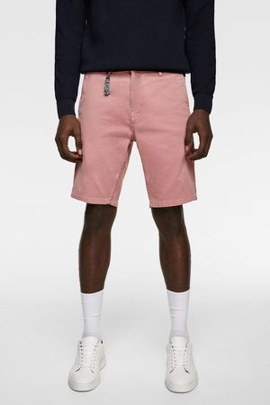 Zara Miehet Bermuda - Textured bermuda shorts