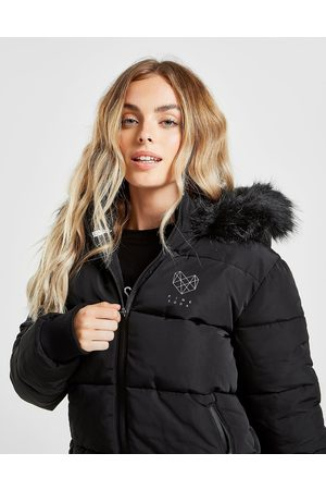 Pink Soda Fur Hood Padded Jacket - Only at JD - Womens