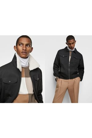 Zara Jacket with contrast faux shearling