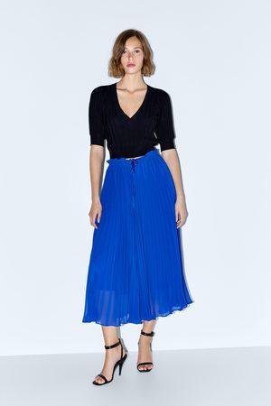 Zara Naiset Culottes-housut - Pleated culottes