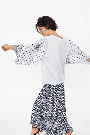 Zara T-shirt with contrast sleeves