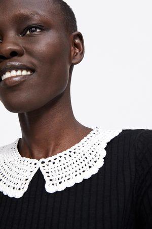 Zara Tshirt with crochet collar
