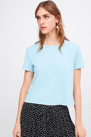 Zara Naiset T-paidat - Faded-effect t-shirt