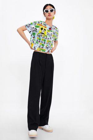Zara Naiset T-paidat - Mickey © disney cropped t-shirt
