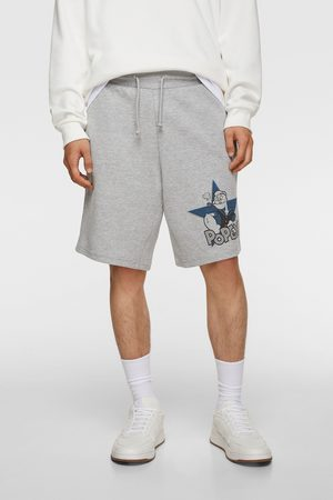 Zara Jogger bermuda shorts with popeye © king features print