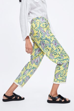 Zara Printed trousers with fringing