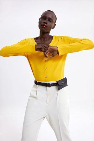 Zara Gold button t-shirt