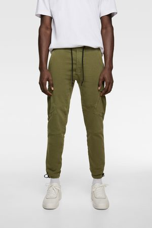Zara Miehet Reisitaskuhousut - Soft denim cargo trousers