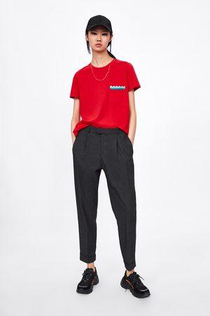 Zara Contrasting sleeve t-shirt