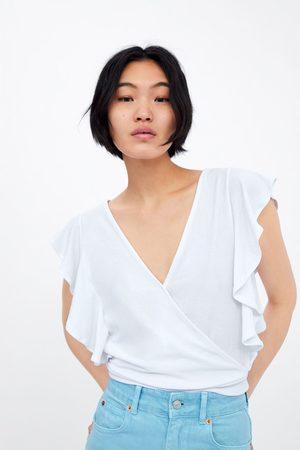 Zara Wrap top with ruffles