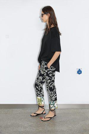 Zara Naiset Chinot - Printed chinos