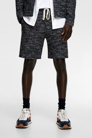 Zara Miehet Bermuda - Irregular textured bermuda shorts