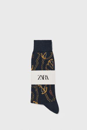 Zara Miehet Sukat - Anchor print mercerised cotton socks