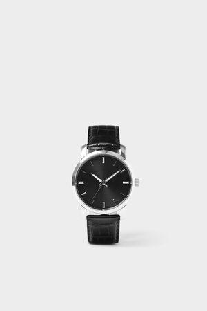 Zara Minimal watch with leather strap