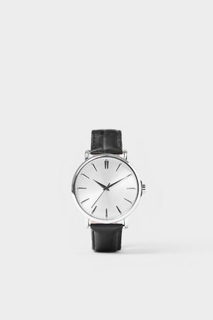 Zara Vintage look watch with leather strap