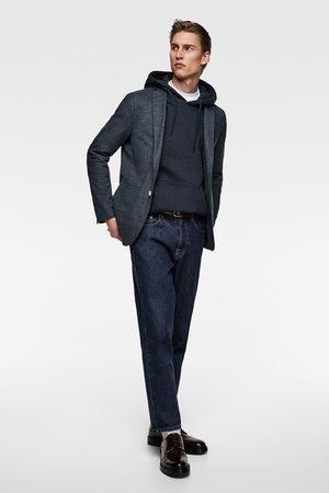 Zara Miehet Bleiserit - Textured weave blazer with elbow patches