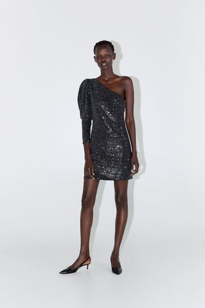 Zara Sequinned asymmetric dress