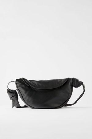 Zara Naiset Olkalaukut - Leather crossbody belt bag
