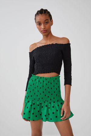 Zara Polka dot mini skirt