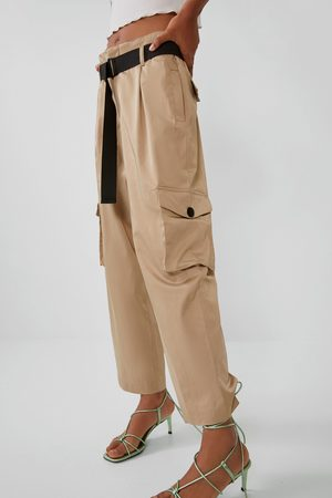 Zara Satin trousers with belt