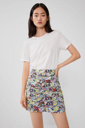 Zara Printed mini skirt