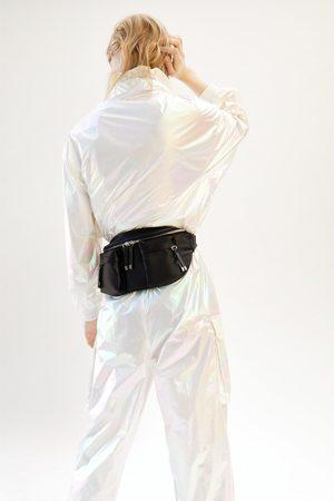 Zara Satin crossbody belt bag