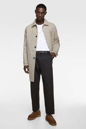 Zara Check traveller trench coat