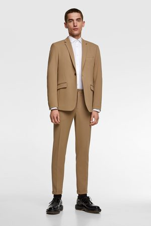 Zara Miehet Bleiserit - 4-way comfort knit textured suit blazer