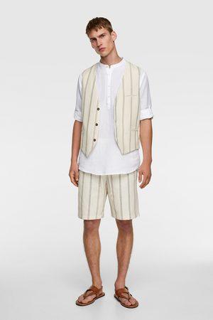 Zara Striped textured waistcoat