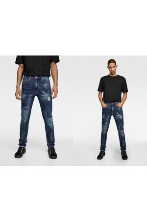 Zara Skinny jeans with paint splatter