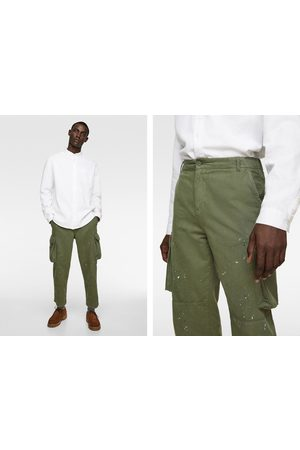 Zara Cargo trousers with drip effect