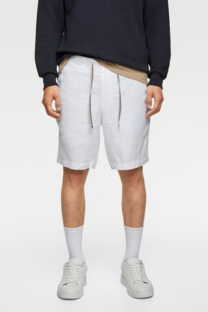 Zara Rustic bermuda shorts with drawstring detail