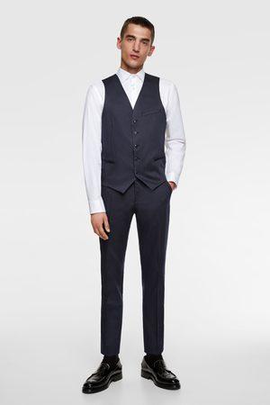 Zara Striped suit waistcoat