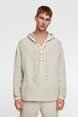 Zara Rustic pouch pocket hoodie