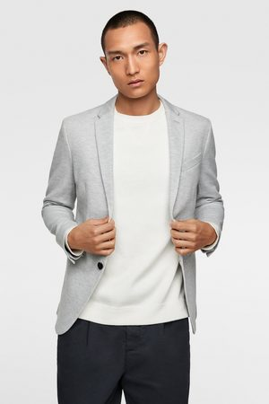 Zara Basic textured blazer