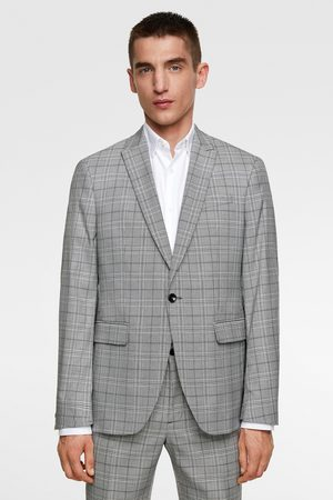 Zara Miehet Bleiserit - Textured check suit blazer